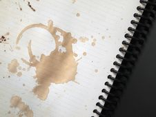 Free Coffee Stains On Note Book Royalty Free Stock Image - 17181056