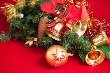 Free Christmas Bells . Stock Image - 17181131