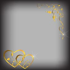 Free Hearts Of Gold Royalty Free Stock Images - 17181329