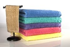 Free Towels And Rack Stock Image - 17181351