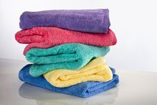 Free Stacked Bath Towels Stock Photo - 17181400