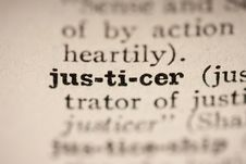 Free Word Justicer Royalty Free Stock Image - 17181496