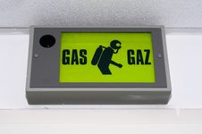 Free Gas Sign On White Wall Royalty Free Stock Photo - 17181675