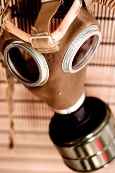 Free Gasmask With Blurry Background Royalty Free Stock Photography - 17181697