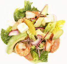 Salad Closeup On White Stock Photography