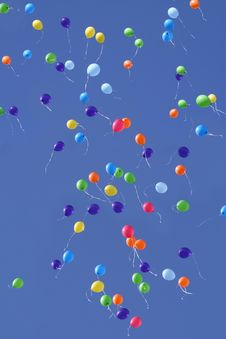 Free Balloons In The Sky Royalty Free Stock Images - 17181729