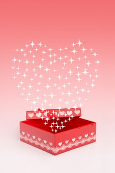 Free Red Gift Box Stock Image - 17182881