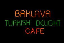 Free Turkish Delight Neon Cafe Stock Photo - 17184650