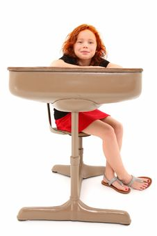 Free Child Student Desk Smiling Royalty Free Stock Images - 17184679