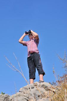 Free Boy With Binoculars 2 Stock Image - 17184991
