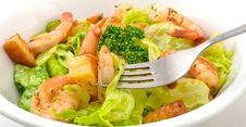 Free Prawn Salad Royalty Free Stock Photography - 17185197