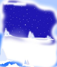 Free Snow Scene Night Stock Images - 17185714