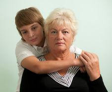 Grandmother And Her Grandson . Royalty Free Stock Image