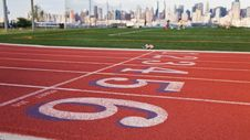 Free Running Track And City Skyline Royalty Free Stock Photos - 17186908