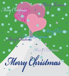 Free Christmas Background With Tree From Hearts Royalty Free Stock Photo - 17187825