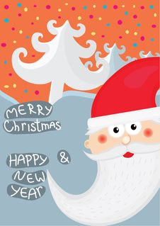 Free Christmas Background With Santa Stock Photography - 17187832