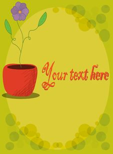 Flower Pot With Copy Space Royalty Free Stock Photos