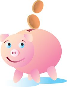 Free Happy Piggy Bank Stock Images - 17188304