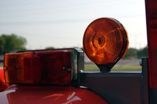 Free Tractor With Tail Lights And Caution Light Stock Photography - 17189502