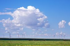Wind Power Generation Stock Image