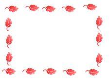 Free Blueberry Leaf Border Stock Image - 17189681