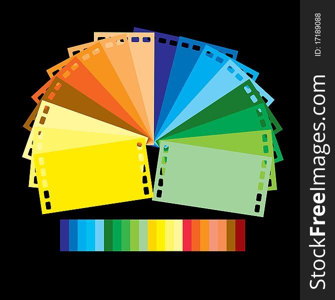 Rainbow colour film