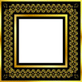 Free Gold Pattern Frame With Waves And Stars_17 Stock Photos - 17190933