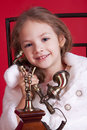 Free Smiley Little Girl Talking By Phone Royalty Free Stock Photography - 17193567
