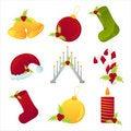Free Set Of 9 Christmas Icons Stock Photography - 17195462