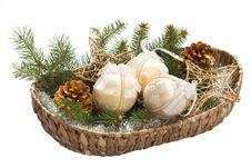 Free Basket With Christmas Bulb Royalty Free Stock Photo - 17190115