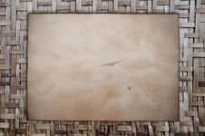 Ancient Paper As Wooden Stock Photo