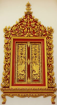 Free Window Frame Of Thai Arts And Beautiful Royalty Free Stock Photography - 17190597