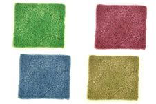 Four Color Used Scrub Stock Images