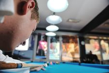 Free Young Man Play Pro Billiard Game Stock Photo - 17192440