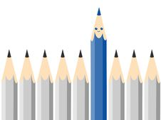 Free Cartoon Blue Crayon Royalty Free Stock Photography - 17192937