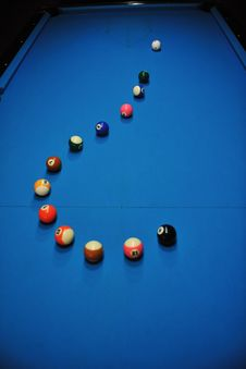 Free Young Man Play Pro Billiard Game Stock Photography - 17193122