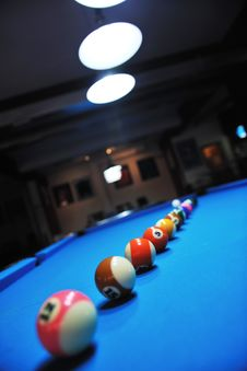 Young Man Play Pro Billiard Game Stock Photography