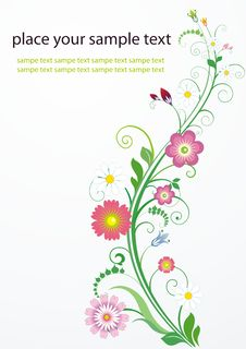 Free Abstract Floral Background Royalty Free Stock Photo - 17193715