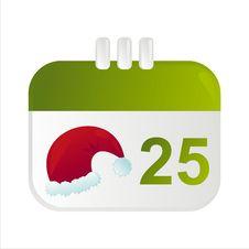 Free Christmas Calendar Icon Stock Photo - 17195410