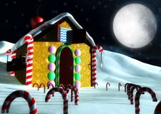 Free Christmas Candy House Stock Image - 17195491