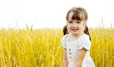 Free Girl In The Field Royalty Free Stock Photos - 17195908