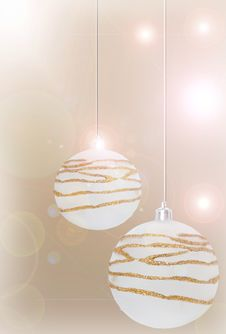 Free Christmas Background With New Balls Royalty Free Stock Photography - 17195977