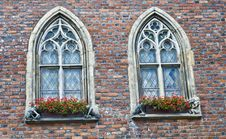 Free Beautiful Portal Windows And Red Bricks Royalty Free Stock Photos - 17196288