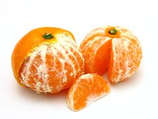 Ripe Tangerines Royalty Free Stock Photos