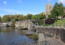 Ruined Church And Avon River Stock Images