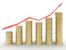 Free Growth Charts From The Tangled Red Arrows Stock Photo - 17197820
