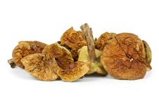 Small Pile Of Dried Cepe Mushrooms Stock Images