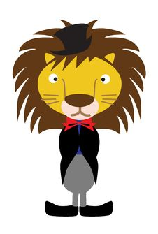 Free Lion Wearing Tux Royalty Free Stock Photo - 17199695