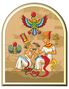 Free Egyptian Pharaoh And His Wife Stock Photography - 17199702