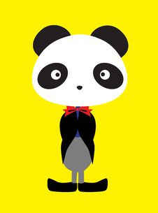 Free Panda Wearing Tux Stock Photos - 17199703